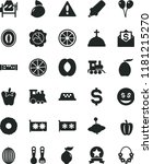 solid black flat icon set... | Shutterstock .eps vector #1181215270
