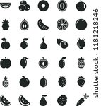 solid black flat icon set... | Shutterstock .eps vector #1181218246