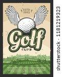 golf sport club retro poster....   Shutterstock .eps vector #1181219323