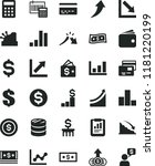 solid black flat icon set bank... | Shutterstock .eps vector #1181220199