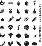 solid black flat icon set onion ... | Shutterstock .eps vector #1181220259