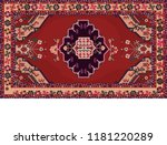 persian carpet  tribal vector...   Shutterstock .eps vector #1181220289