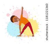 cute cartoon gymnastics for... | Shutterstock .eps vector #1181221360