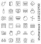 thin line vector icon set  ... | Shutterstock .eps vector #1181221930