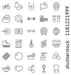 thin line vector icon set  ... | Shutterstock .eps vector #1181221999