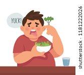 vector illustration of a boy... | Shutterstock .eps vector #1181222026
