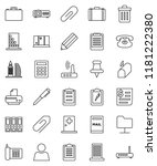 thin line vector icon set  ... | Shutterstock .eps vector #1181222380