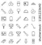 thin line vector icon set  ... | Shutterstock .eps vector #1181223640
