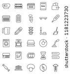 thin line vector icon set  ... | Shutterstock .eps vector #1181223730