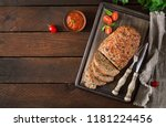 tasty homemade ground  baked... | Shutterstock . vector #1181224456
