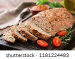 tasty homemade ground  baked... | Shutterstock . vector #1181224483
