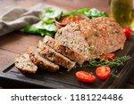 tasty homemade ground  baked... | Shutterstock . vector #1181224486