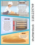 baker preparing bread poster ... | Shutterstock .eps vector #1181225749