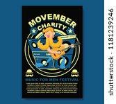 movember music festival charity ... | Shutterstock .eps vector #1181239246