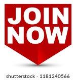 red vector banner join now | Shutterstock .eps vector #1181240566