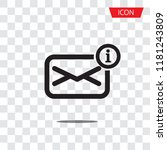 receiving messages  mail icon... | Shutterstock .eps vector #1181243809