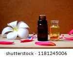 bottle of aroma essential oil... | Shutterstock . vector #1181245006
