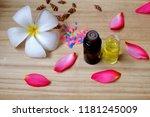 bottle of aroma essential oil... | Shutterstock . vector #1181245009