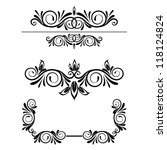 calligraphic elements set | Shutterstock .eps vector #118124824
