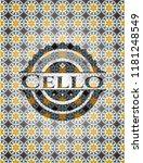 cello arabesque emblem... | Shutterstock .eps vector #1181248549