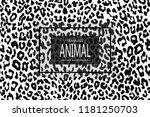 leopard seamless pattern. white ... | Shutterstock .eps vector #1181250703