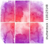 set of colorful abstract...   Shutterstock . vector #118125148