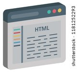 html coding  html isolated and ... | Shutterstock .eps vector #1181252293