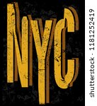 new york fashion style tee art... | Shutterstock .eps vector #1181252419