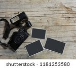 vintage film camera and two...   Shutterstock . vector #1181253580