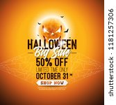 halloween sale vector... | Shutterstock .eps vector #1181257306