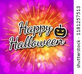 happy halloween with abstract... | Shutterstock .eps vector #1181257513