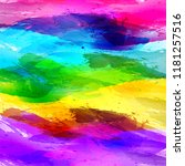 rainbow abstract watercolor ... | Shutterstock .eps vector #1181257516
