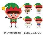 christmas elf vector character... | Shutterstock .eps vector #1181263720