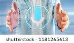 view of a businessman holding a ... | Shutterstock . vector #1181265613