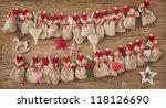 advent calendar on wooden... | Shutterstock . vector #118126690