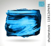 blue brush stroke and texture.... | Shutterstock .eps vector #1181269696
