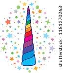 unicorn horn vector illustration | Shutterstock .eps vector #1181270263