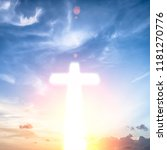 cross on a sky background | Shutterstock . vector #1181270776