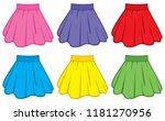 skirt collection vector... | Shutterstock .eps vector #1181270956