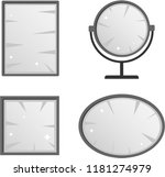 mirror  a set of realistic... | Shutterstock .eps vector #1181274979