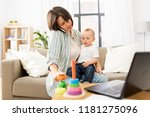 multi tasking  freelance and... | Shutterstock . vector #1181275096