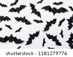 halloween and decoration... | Shutterstock . vector #1181279776