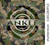 ankle written on a camo texture | Shutterstock .eps vector #1181283913