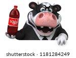 fun cow   3d illustration   Shutterstock . vector #1181284249