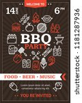 bbq party invitation or... | Shutterstock .eps vector #1181287936