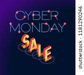 cyber monday web banner. data... | Shutterstock .eps vector #1181290246