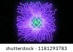 abstract neon circuit brain... | Shutterstock . vector #1181293783