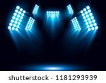 blue stage arena lighting... | Shutterstock .eps vector #1181293939
