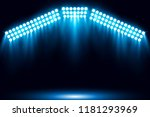 blue stage arena lighting... | Shutterstock .eps vector #1181293969