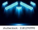 blue stage arena lighting... | Shutterstock .eps vector #1181293990